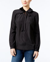 GUESS Darla Tie-Neck Blouse
