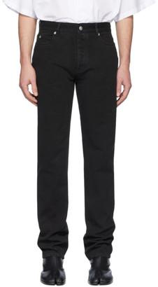 Maison Margiela Black Garment-Dyed Straight-Leg Jeans