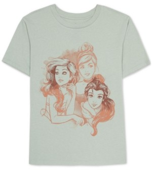Disney Juniors Princesses Graphic Print T-Shirt