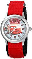 "Disney Kids' W001588 ""Time Teacher"" Lightning McQueen Stainless Steel Watch with Nylon Strap"