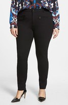 NYDJ Plus Size Women's 'Ski' Zip Pocket Ponte Knit Skinny Pants