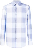 BOSS Long Sleeve Checked Pattern Shirt