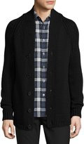 Theory Roden Merino Wool-Blend Cardigan, Black