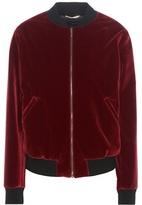Saint Laurent Embellished Velvet Bomber Jacket