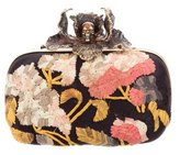 Alexander McQueen Embroidered Skull Box Clutch