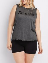 Charlotte Russe Plus Size Slay All Day Tank Top