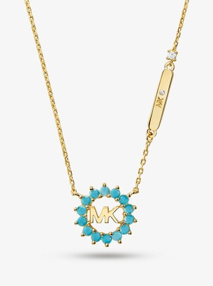 Michael Kors 14K Gold-Plated Sterling Silver Logo Necklace