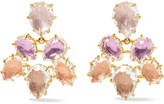 Larkspur & Hawk - Caterina Gold-dipped Quartz Earrings - Lilac