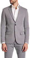 Antony Morato Diamond Print Navy Two Button Notch Lapel Slim Fit Blazer
