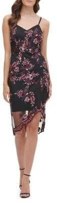 GUESS Romantic Embroidered Lace Mini Sheath Dress