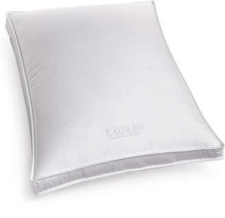 Lauren Ralph Lauren White Down Firm Density Standard Gusset Pillow, Certified Asthma and Allergy Friendly