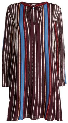 M Missoni Long-Sleeved Mini Dress