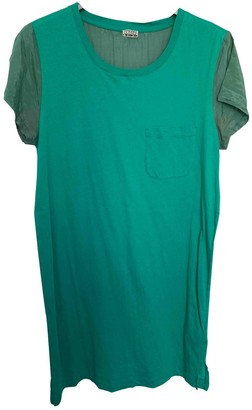 Closed Green Cotton Dress for Women