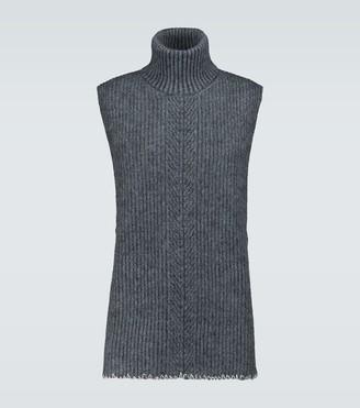 Maison Margiela Wool and mohair sleeveless sweater