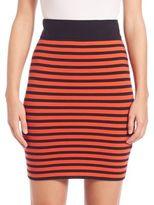 Akris Punto Graphic Stripe Knit Skirt