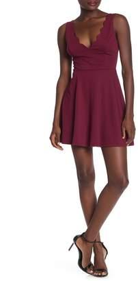 Ash MAX & Scalloped Sleeveless Fit & Flare Dress