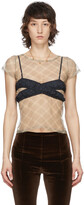 Thumbnail for your product : Supriya Lele SSENSE Exclusive Black Long Crossover Tank Top
