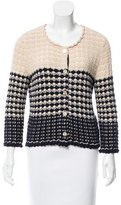 Chanel Two-Tone Patterned Cardigan