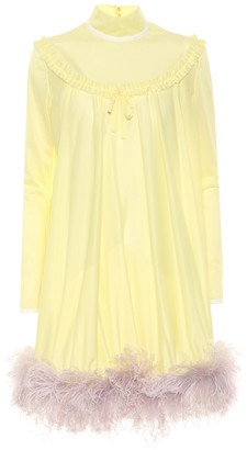 Miu Miu Feather-trimmed dress
