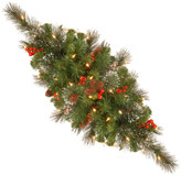 Crestwood National Tree Company 30 Spruce Centerpiece w/ Battery Operated Warm White LED Li