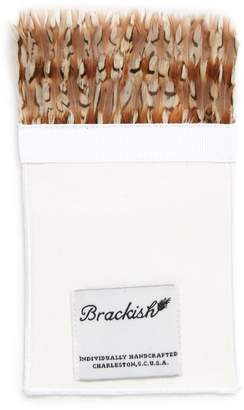 Brackish & Bell Bevy Feather Pocket Square