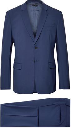 Prada Navy Tela Slim-Fit Stretch Virgin Wool Suit