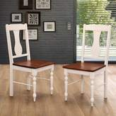 Walker Edison Huntsman Dining Chairs in Brown/White (Set of 2)