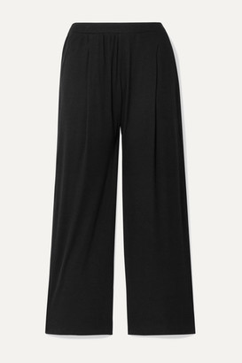 Skin - Nola Ribbed Stretch-pima Cotton And Modal-blend Pajama Pants - Black