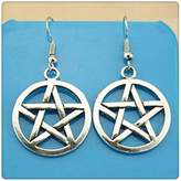 Nobrand No brand Simple Vintage 25*25mm Star Charm Dangle Earring, Charming Drop Earring