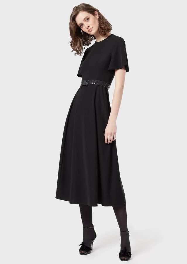 034e7e705d Short-Sleeved, Ruffled Dress With Belt