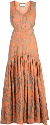 Alexis Garcelle print cut-out dress