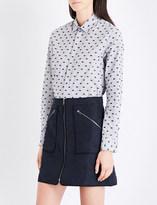Kenzo Striped cotton-blend shirt