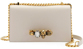 Alexander McQueen Jewelled Satchel Bag - Golden Hardware