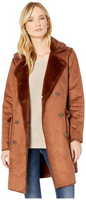 Lauren Ralph Lauren Double Breasted Faux Shearling (Nutmeg) Women's Clothing