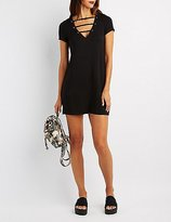 Charlotte Russe Caged Front T-Shirt Dress