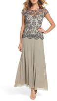 Pisarro Nights Women's Beaded Mesh Gown