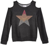 Epic Threads Hero Kids by Studded Star-Print Cold-Shoulder Sweatshirt, Big Girls (7-16), Created for Macy's