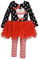 Bonnie Jean Girls' 2-pc. Polka-Dot Tutu Dress & Leggings Set