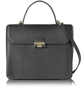 Furla Black Chiara Medium Top Handle Satchel Bag