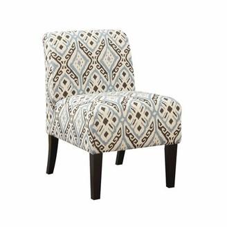 "Red Barrel Studio Dolence 23"" W Linen Blend Slipper Chair Fabric: Orange Linen Blend Floral"