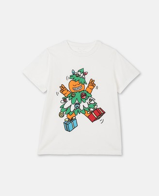 Stella Mccartney Kids Christmas Cotton T-Shirt, Unisex
