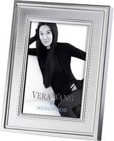 Vera Wang Wedgwood Grosgrain Silver Photo Frame, 4x6