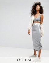 Ellesse Jersey Midi Skirt With Side Pull Ties