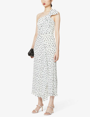 Roland Mouret Giza polka-dot crepe midi dress