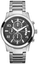 GUESS GUESS? Men's U0075G1 Stainless-Steel Quartz Watch with Black Dial