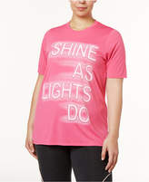 Soffe Curves Plus Size Active Statement-Print T-Shirt