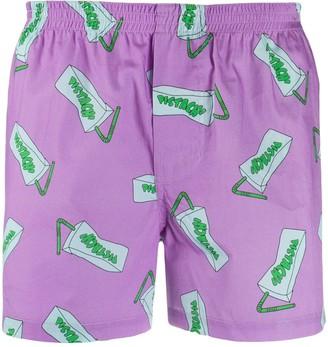 Jacquemus Pistach' print shorts