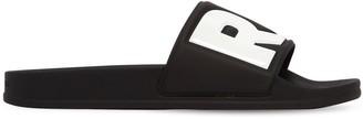 G Star Logo Rubber Slide Sandals