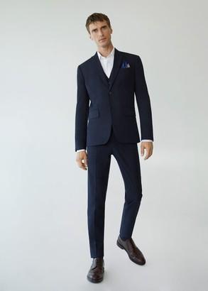 MANGO MAN - Slim fit suit blazer navy - 36 - Men