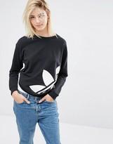 adidas Sweatshirt With Oversized Trefoil Logo